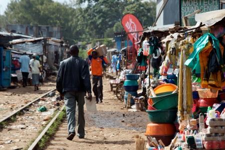 Train tracks through Kibera